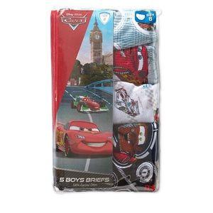 New Boys Cars 5 Pack Briefs